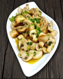 Pan-fried Button Mushrooms